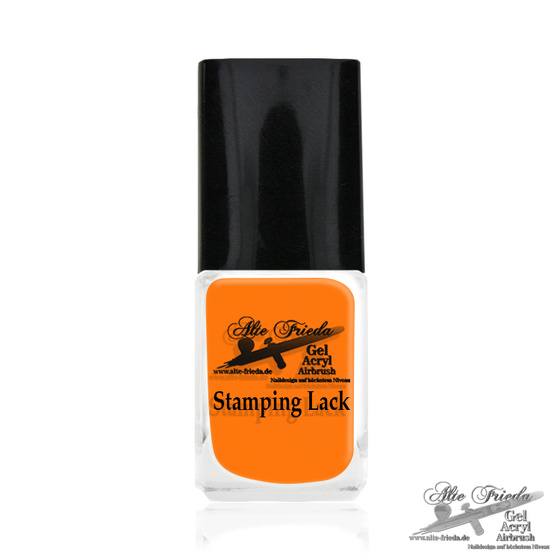 Stamping Farbe Neon Orange Shine