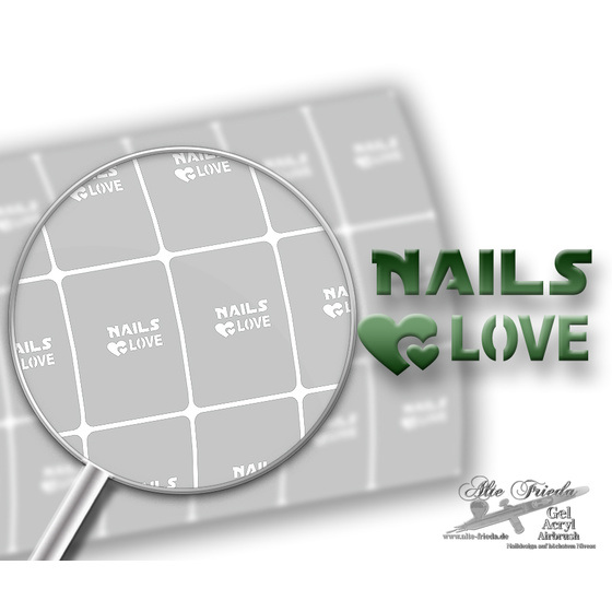 Schablone Nails & Love