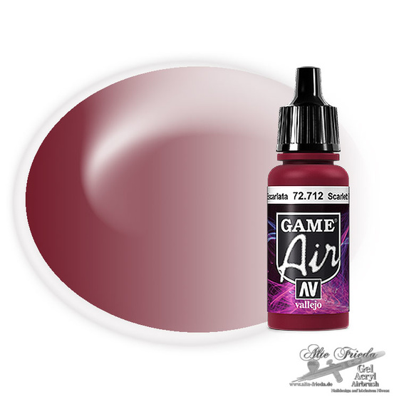 Vallejo Game Air 712 Scarlett Red, 17 ml