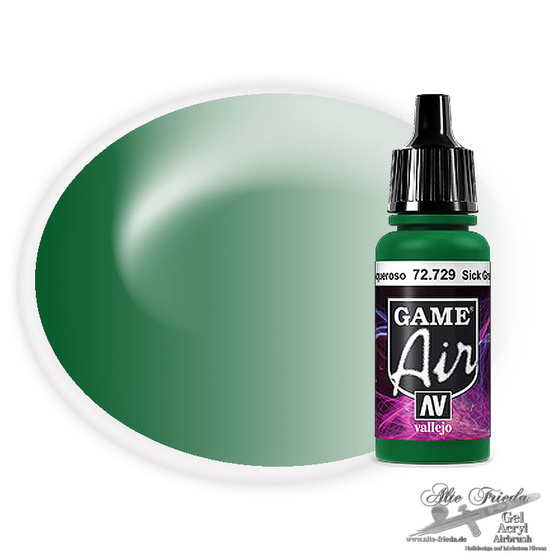 Vallejo Game Air 729 Sick Green, 17 ml