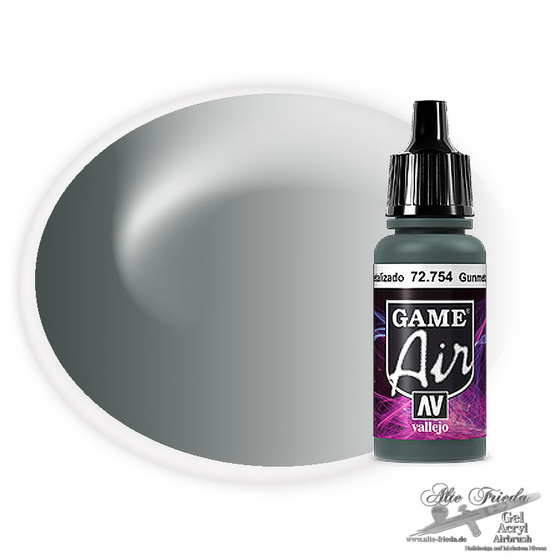 Vallejo Game Air 754 Gunmetal Metal, 17 ml