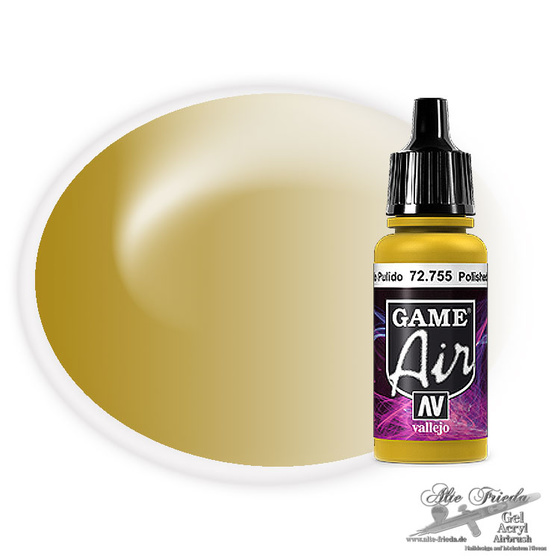 Vallejo Game Air 755 Polished Gold, 17 ml