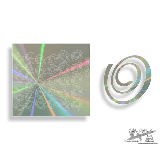 Chrom Sticker 045 - Effekt Hologramm
