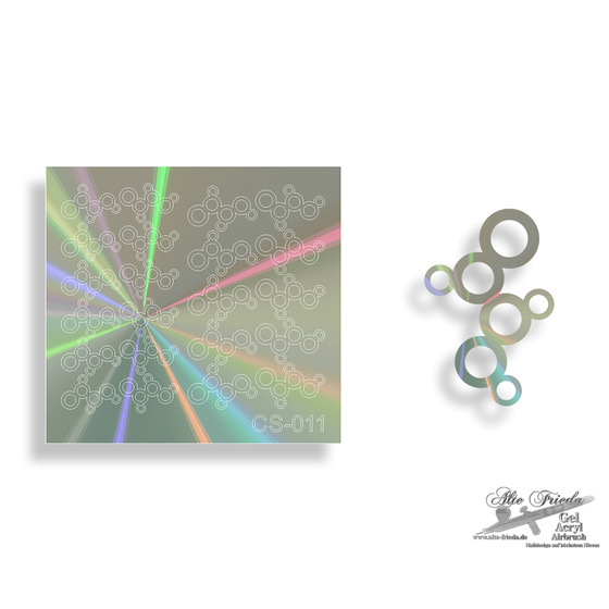 Chrom Sticker 011 - Effekt Hologramm